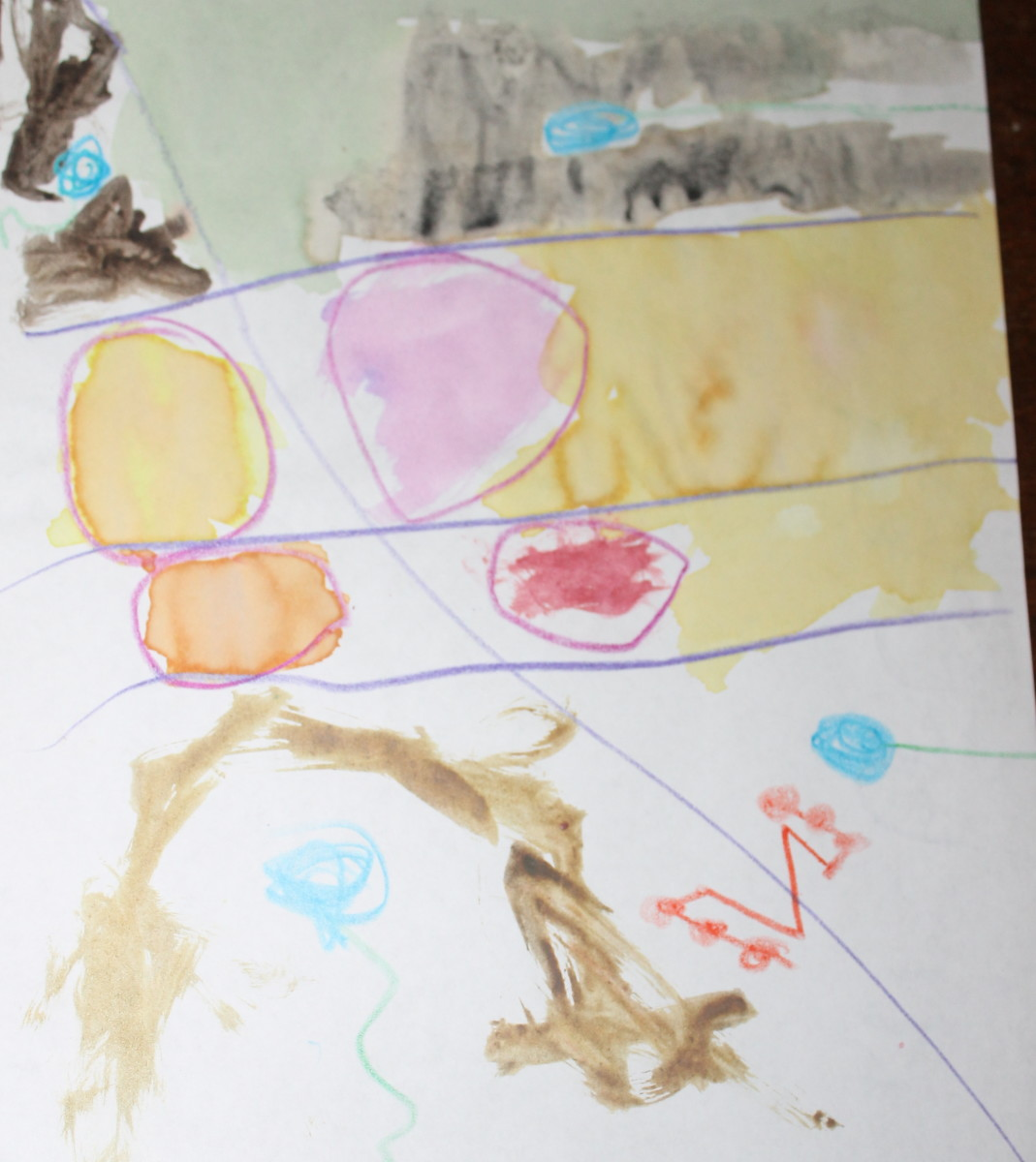 Abstract painting done by a 5 year old