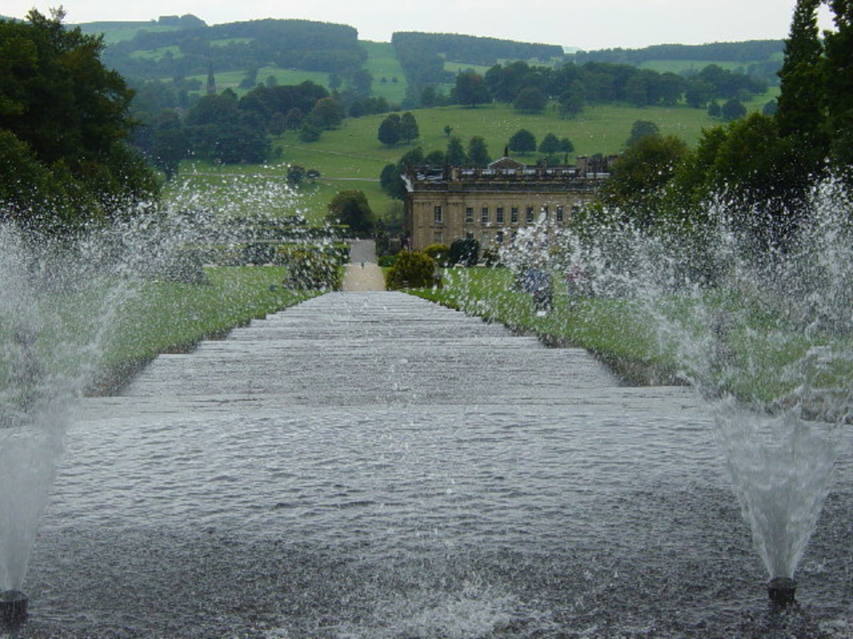 Cascading water feature at Chatsworth House