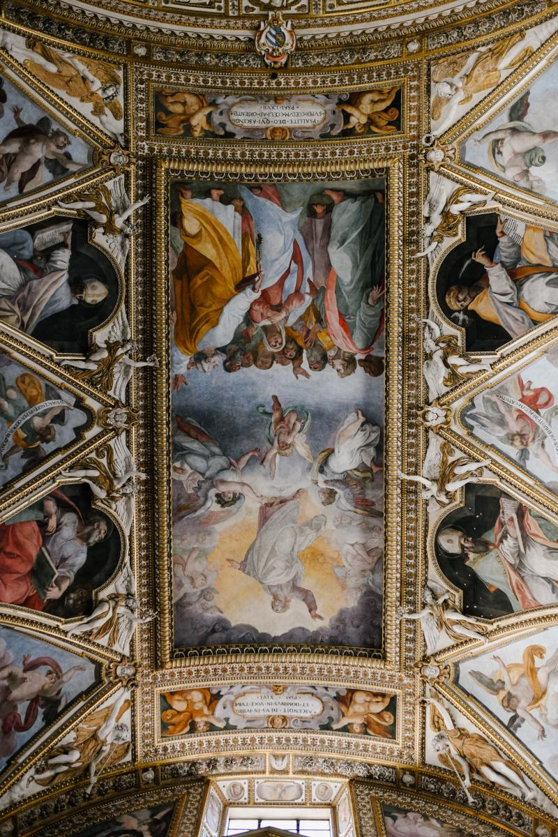 Fresco painting of ceiling in a cathedral