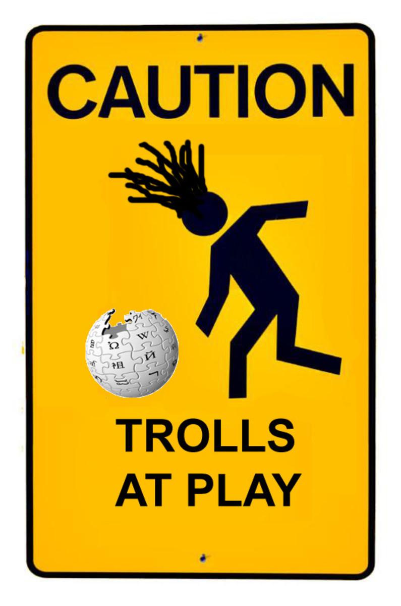 Wikipedia troll at play