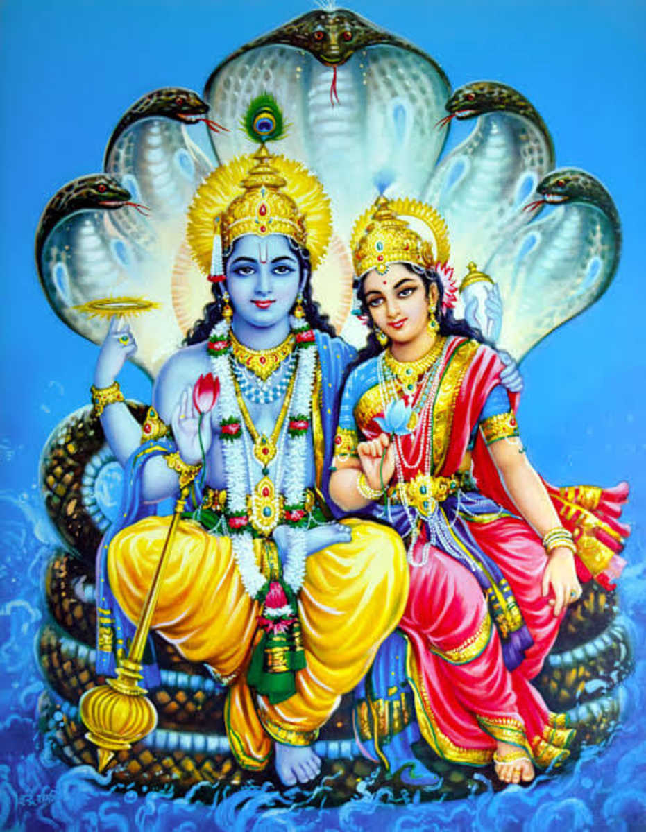 Everyone wishes to attain Lakshmi. It is very important to get the grace of Lord Vishnu for the grace of Goddess Lakshmi because Lakshmi resides at her feet.