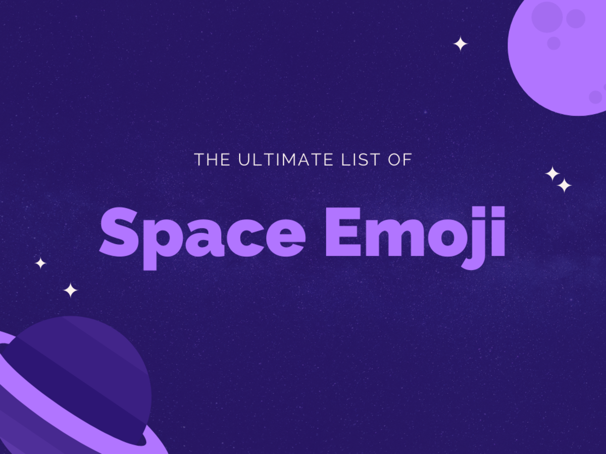 In this guide, we'll be looking at some super cool space emoji!