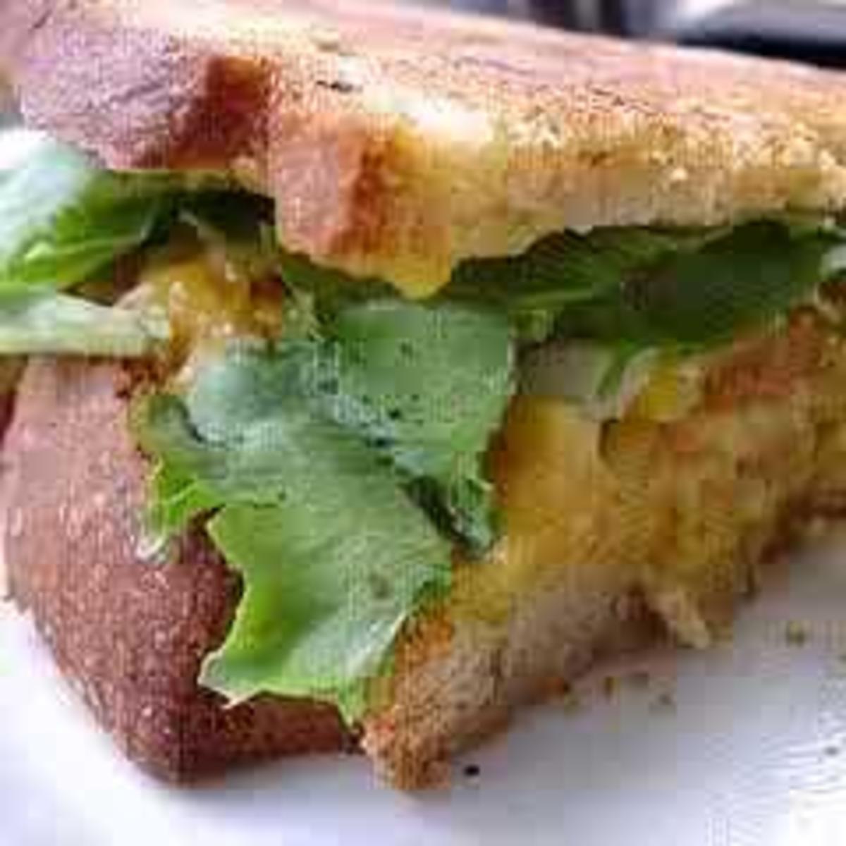 A classic egg salad sandwich