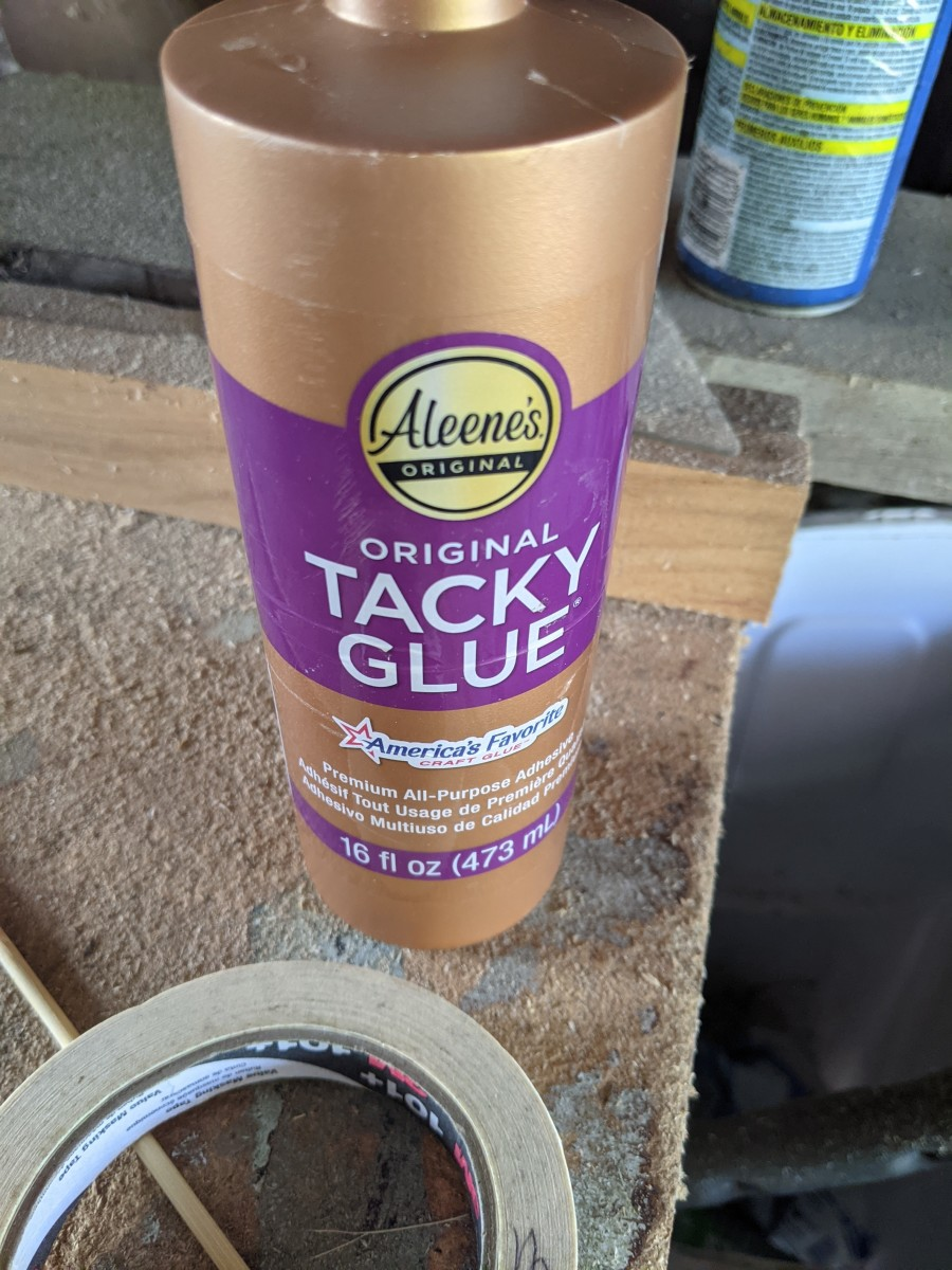 Using Aleen's Tacky glue.