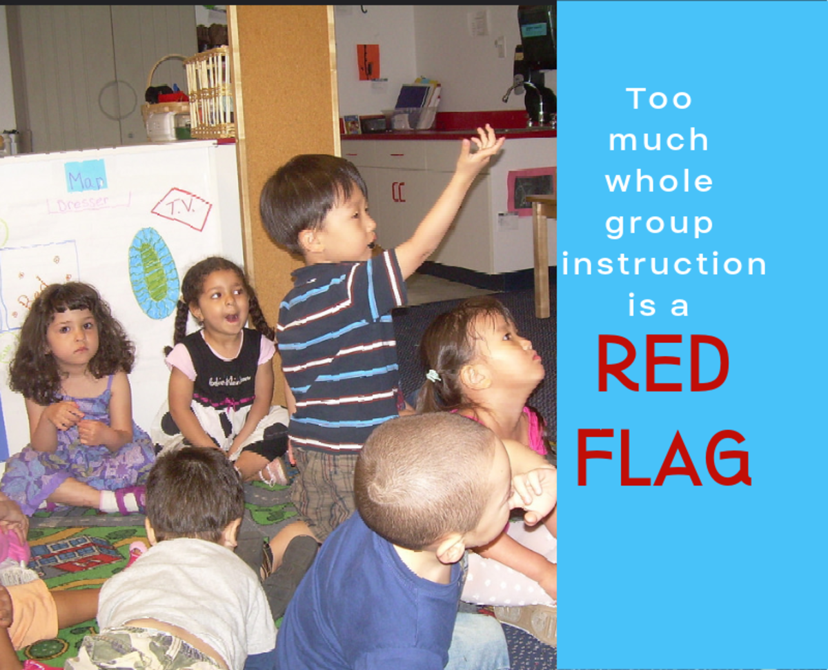 Whole group instruction gets overused when the student to teacher ratio is too high.