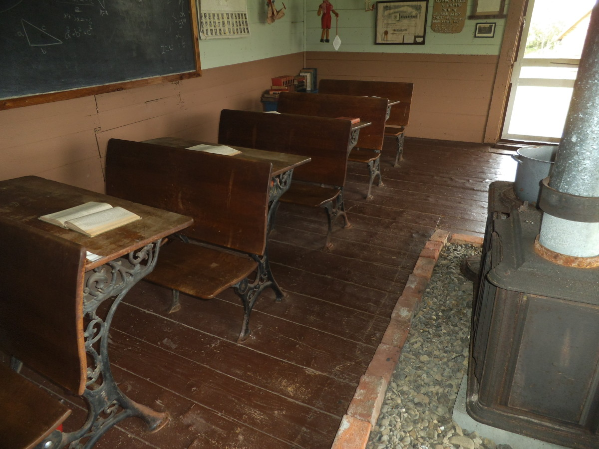 A photo I took at a historic schoolroom in northern Maine. This would have been from the same period as my father tells about or even earlier.