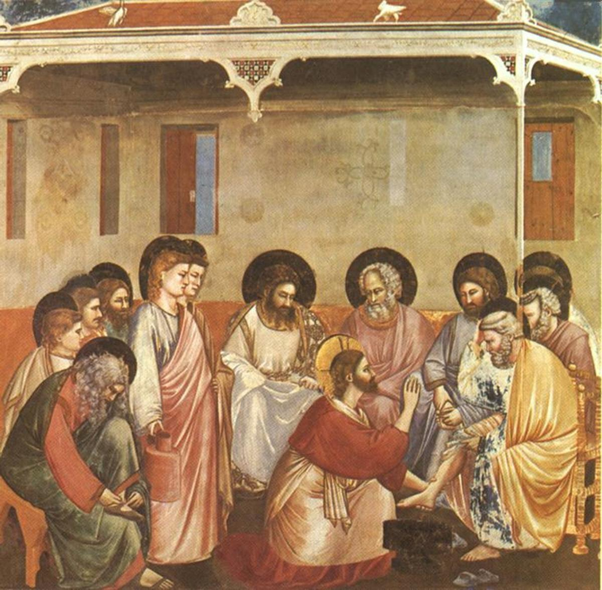 Giotto Jesus and the 12