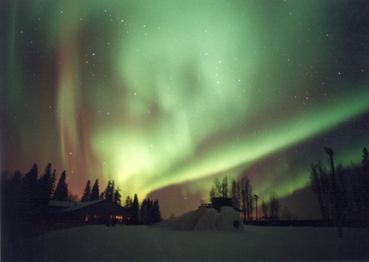 Northern Lights in Fort McMurray, Canada, are so delightful!
