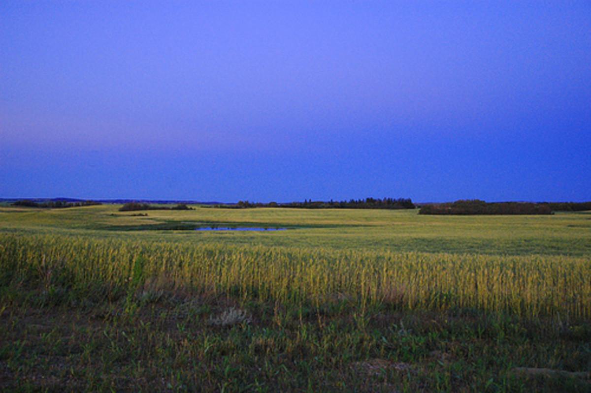 Gorgeous prairie sky in Western Canada.