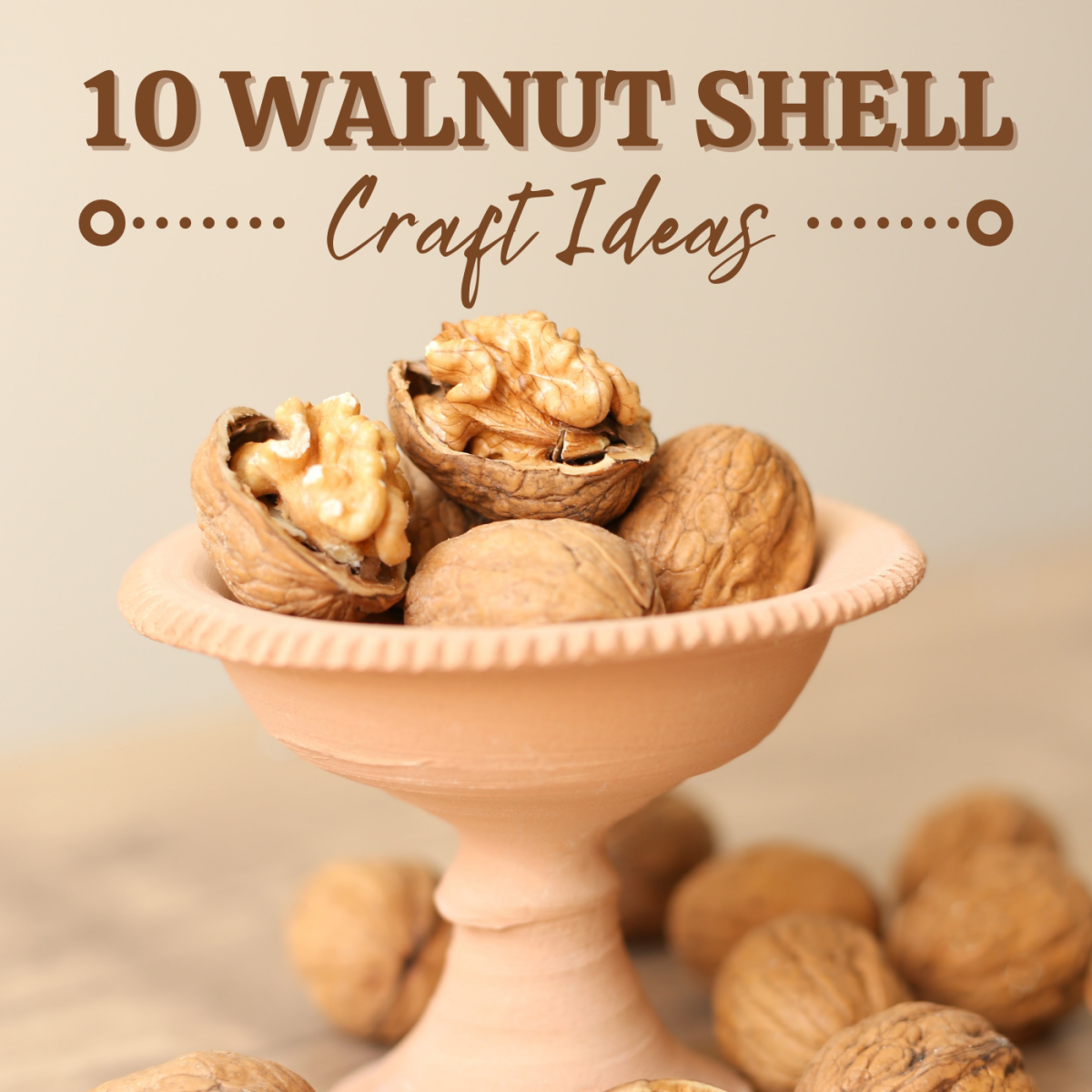 Walnut shells are so unique and captivating—why not craft with them instead of tossing them out?