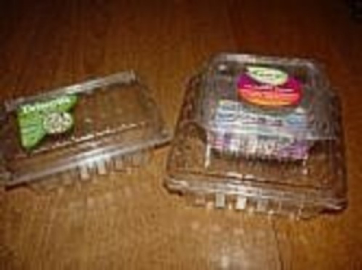 Reuse Plastic Berry Containers to Organize School Supplies