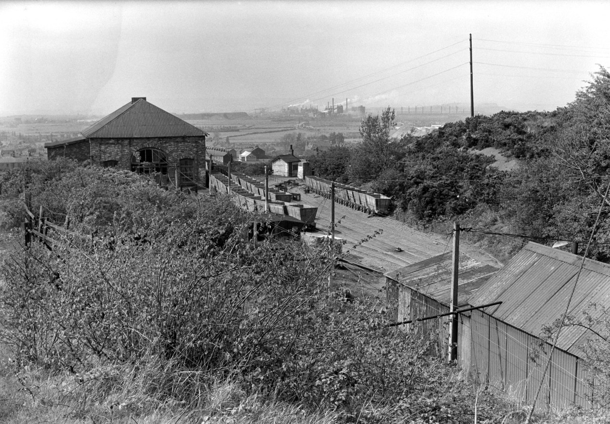 Trustee Incline head - winding house on the left - overlooking Eston and beyond ...