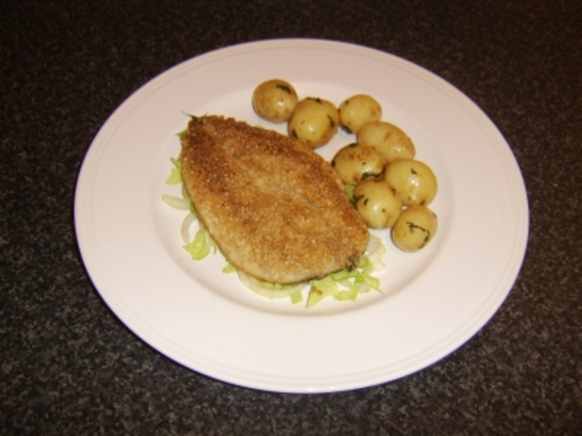 Fried Mackerel Fillet in Oatmeal with Minted New Potatoes