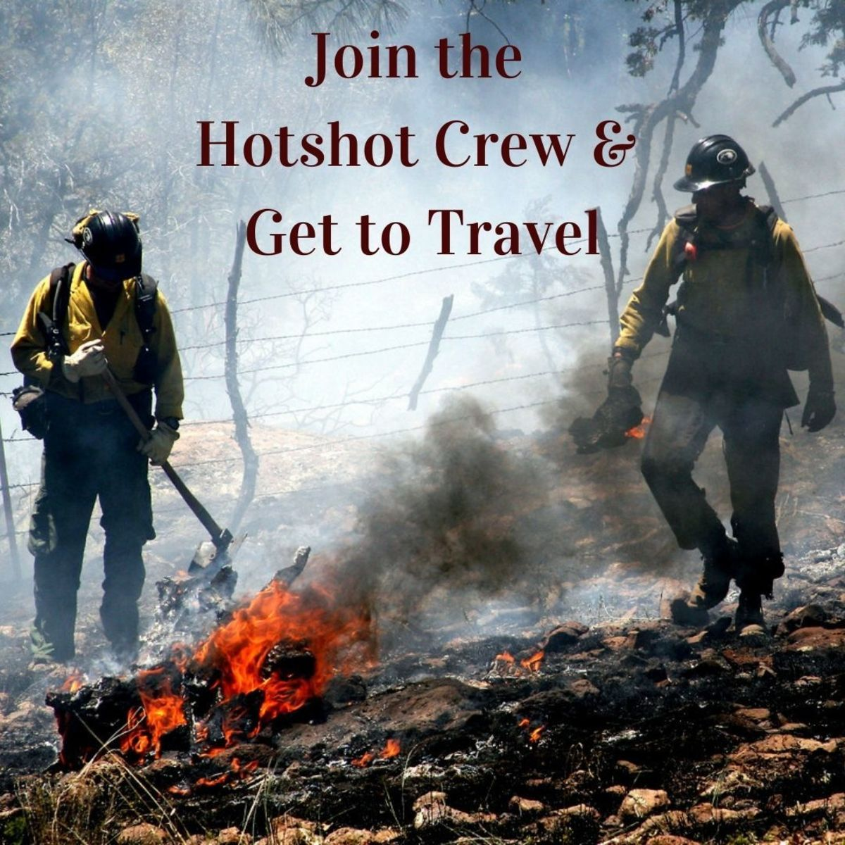 Hotshot crew members from the U.S. Forest Service, South-western Region, Kaibab National Forest.