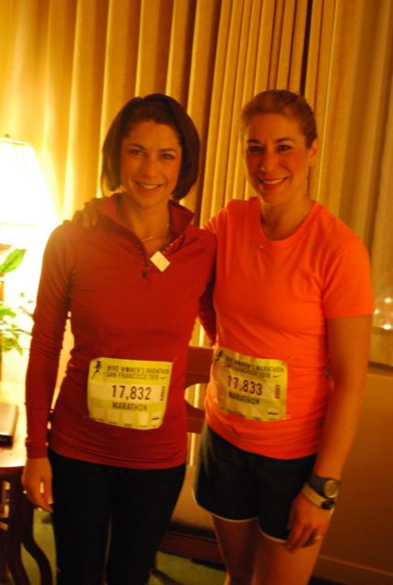 My sister and me before the Nike Women's Marathon 2010