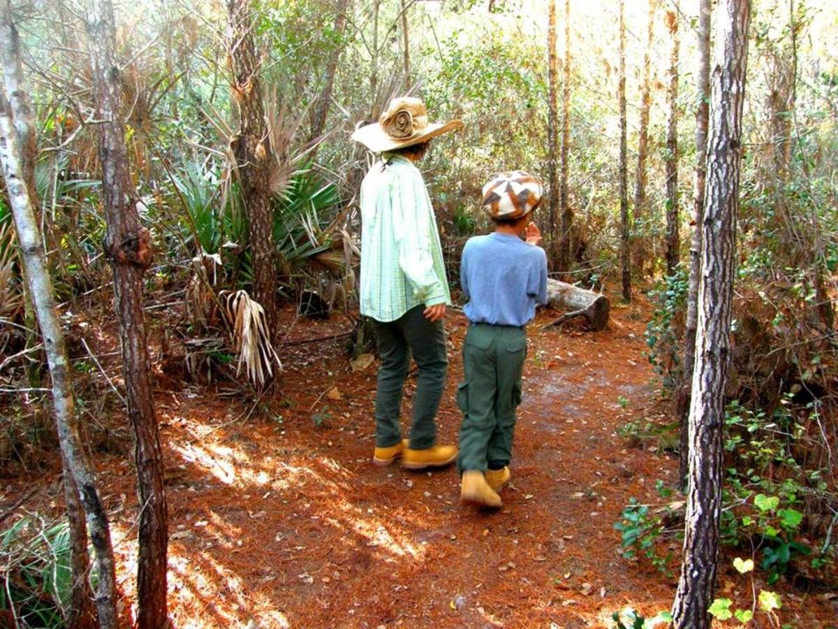 My youngest son, Nicholas, and I on a trail at the Turkey Creek Sanctuary in Palm Bay, Florida.