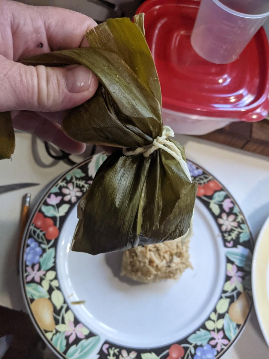 Tamales - Steamed Stuffed Corn Dumplings
