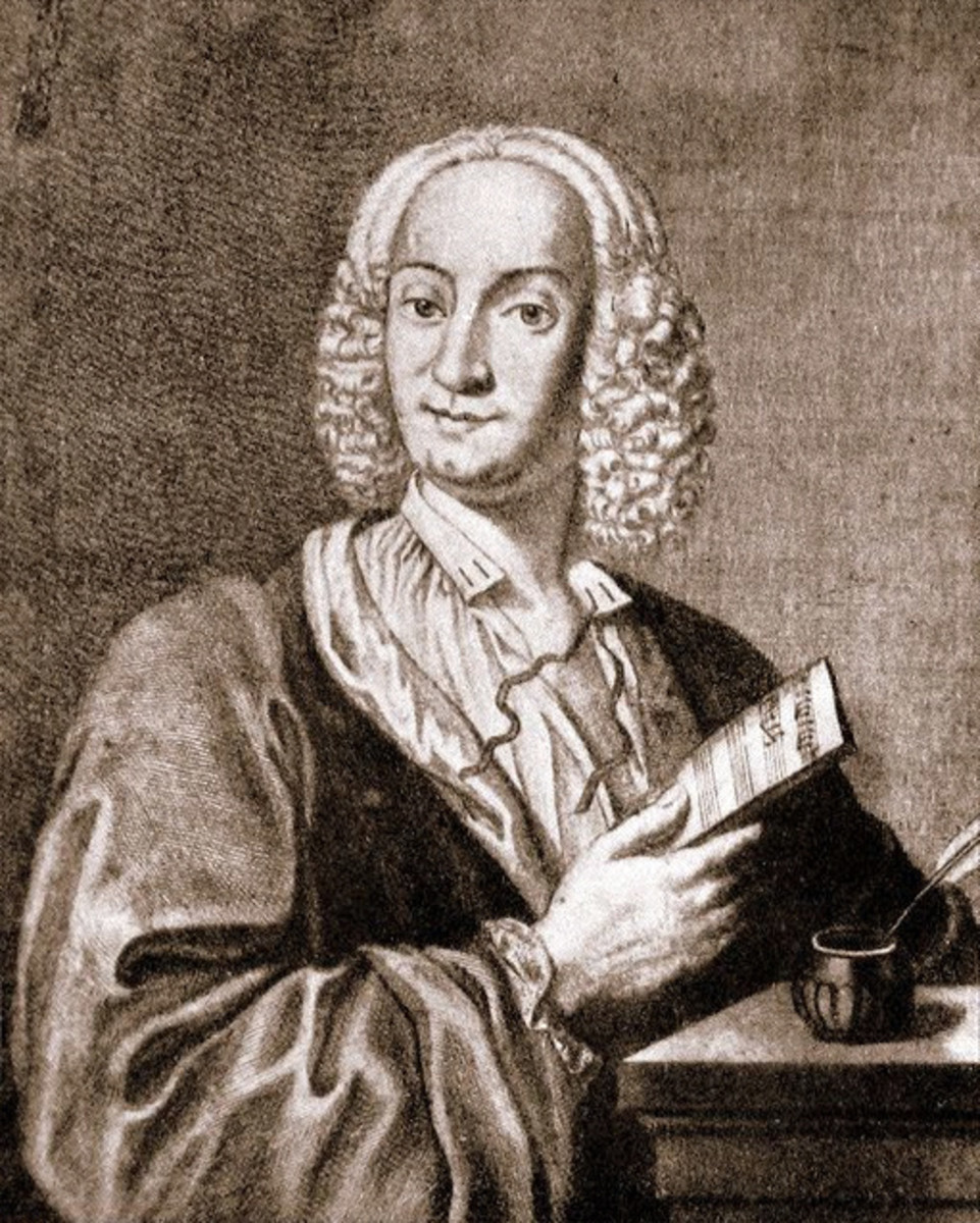 Engraving portrait of Vivaldi, 1725.