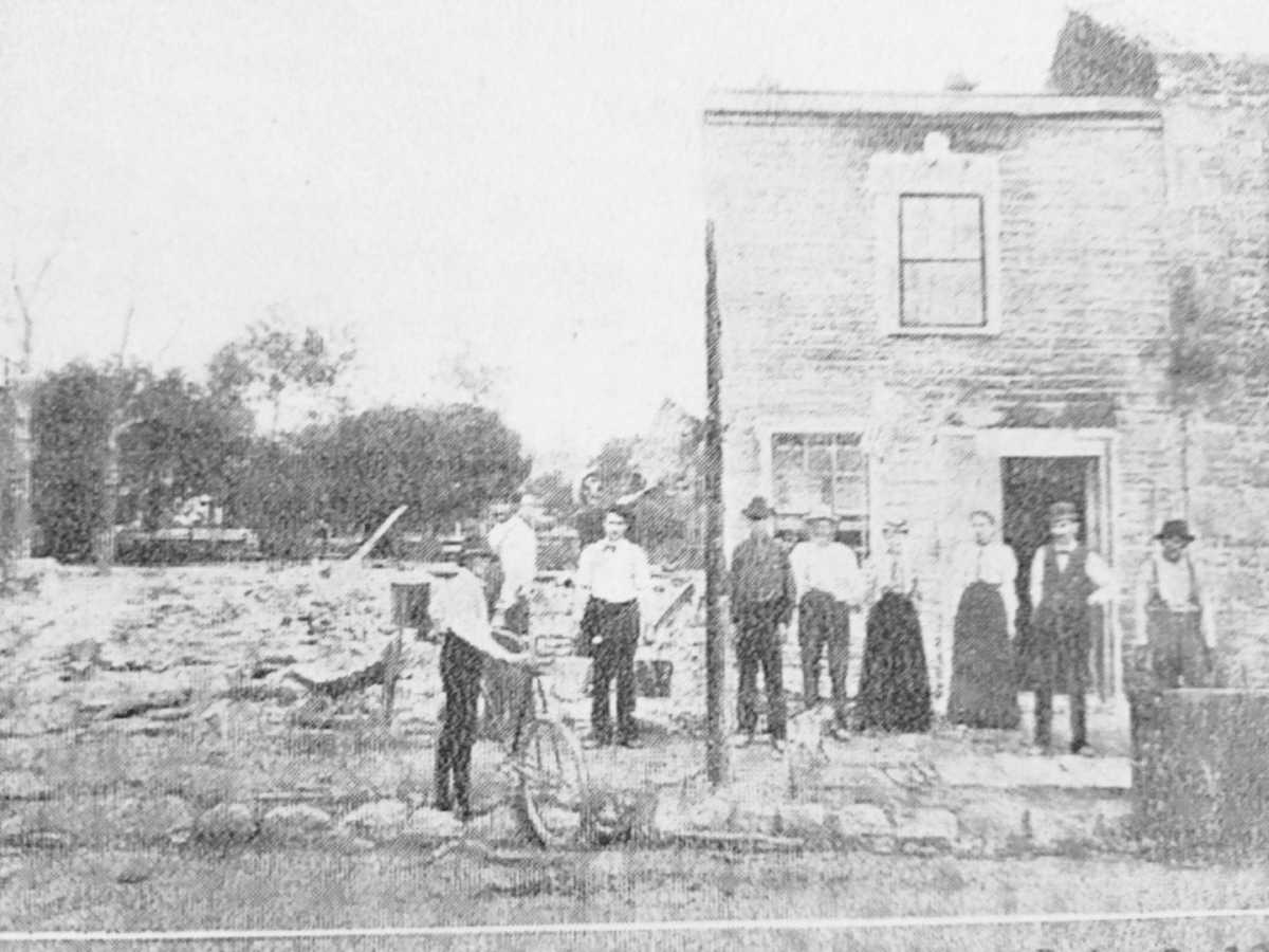 Aftermath of Waterford Fire of 1898