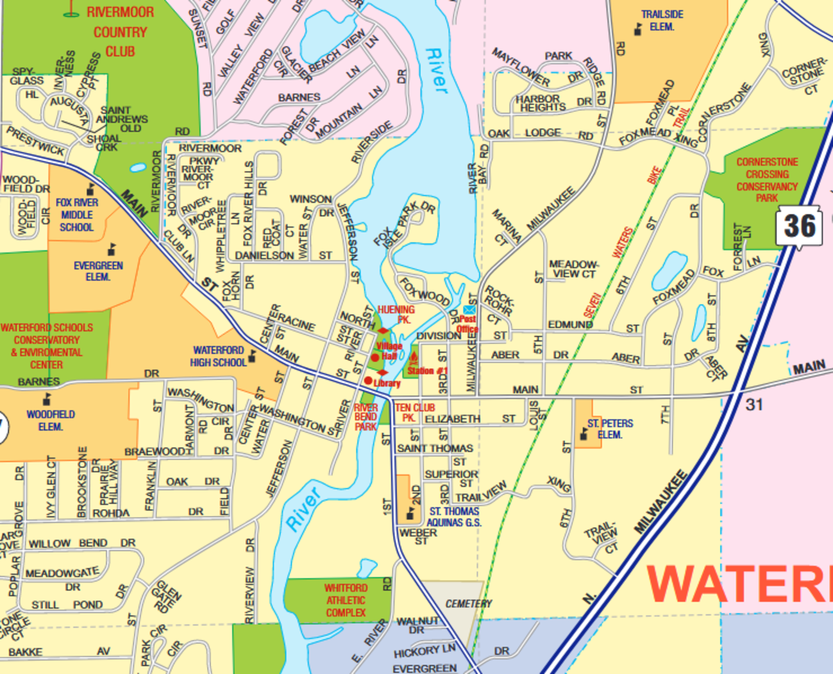 Village of Waterford Wisconsin in 2021
