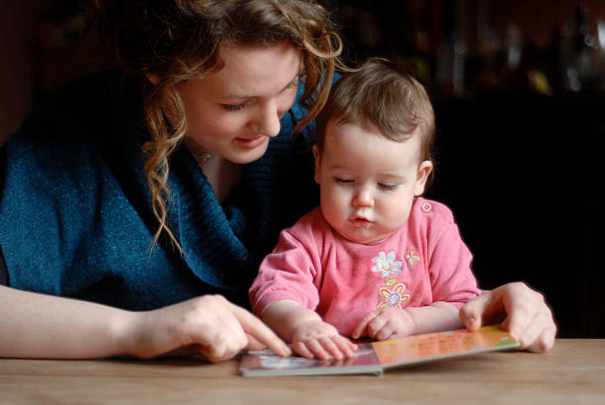 The close interaction between parent and child at an early age leads to a lifetime of reading enjoyment.