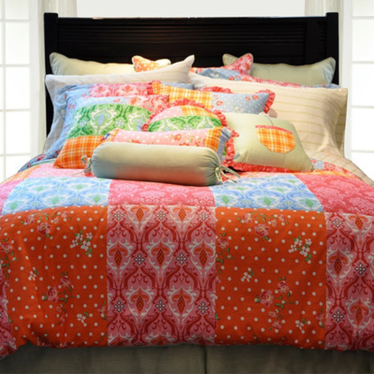 This colorful set adds boho chic to your Matryoshka themed bedroom