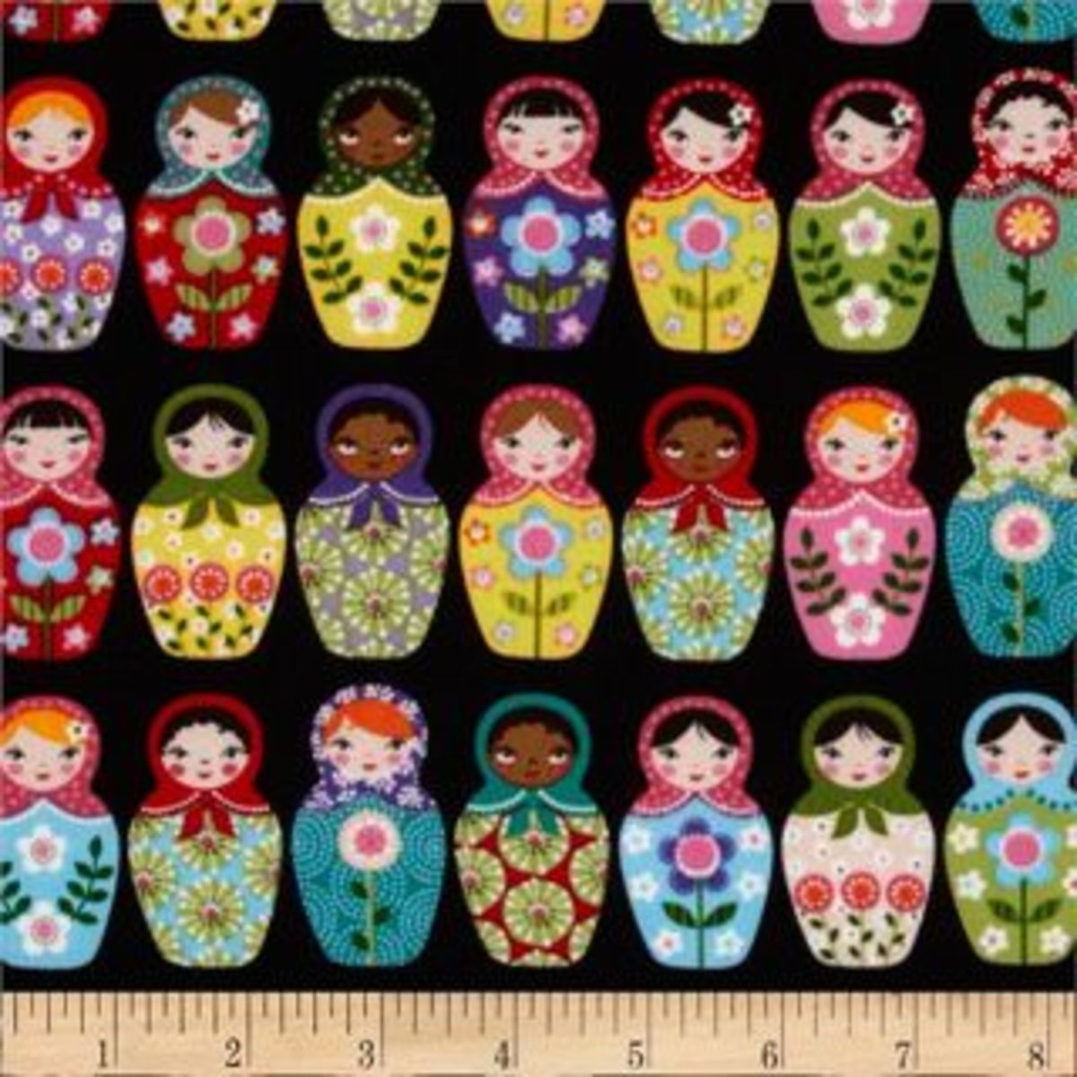 Russian nesting doll fabric