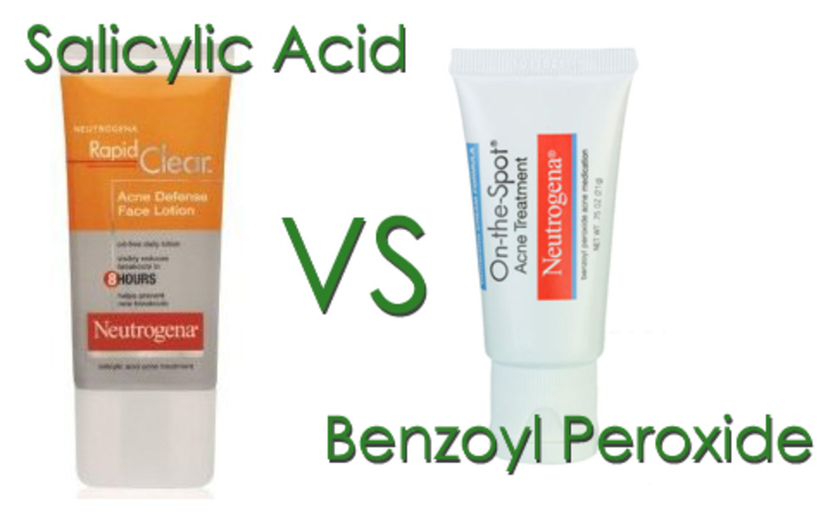 Both salicylic acid and benzoyl peroxide are great at combating backne.  To chose the right one for you, do some research.  Some people find their skin dries out if they use one product over another.