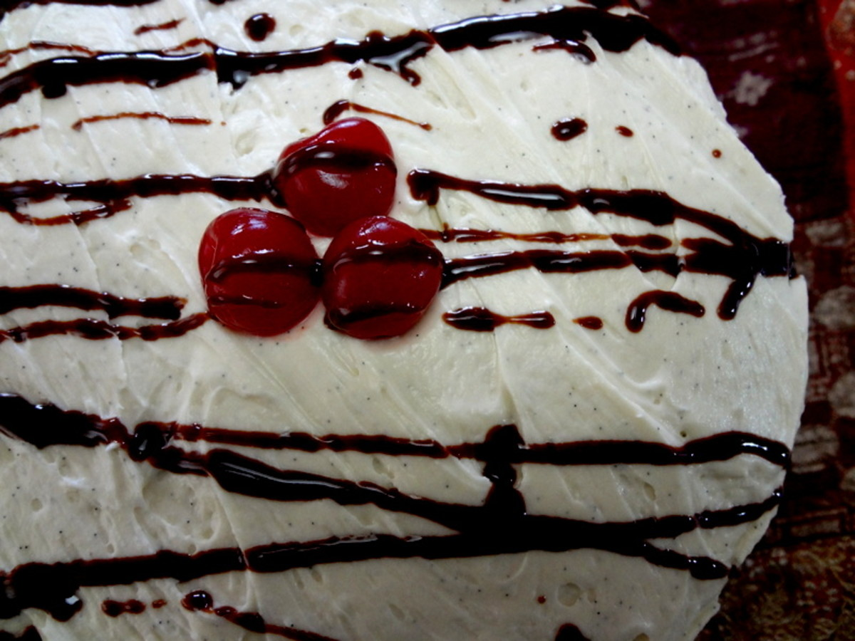 Moist Chocolate Cake from Scratch With Cream Cheese Frosting & Cherry Ganache Filling Recipe