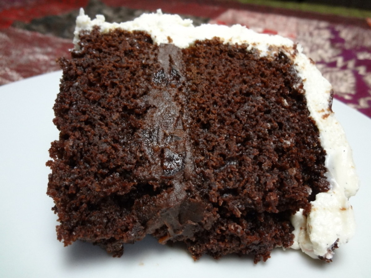 Moist Chocolate Cake From Scratch With Cream Cheese