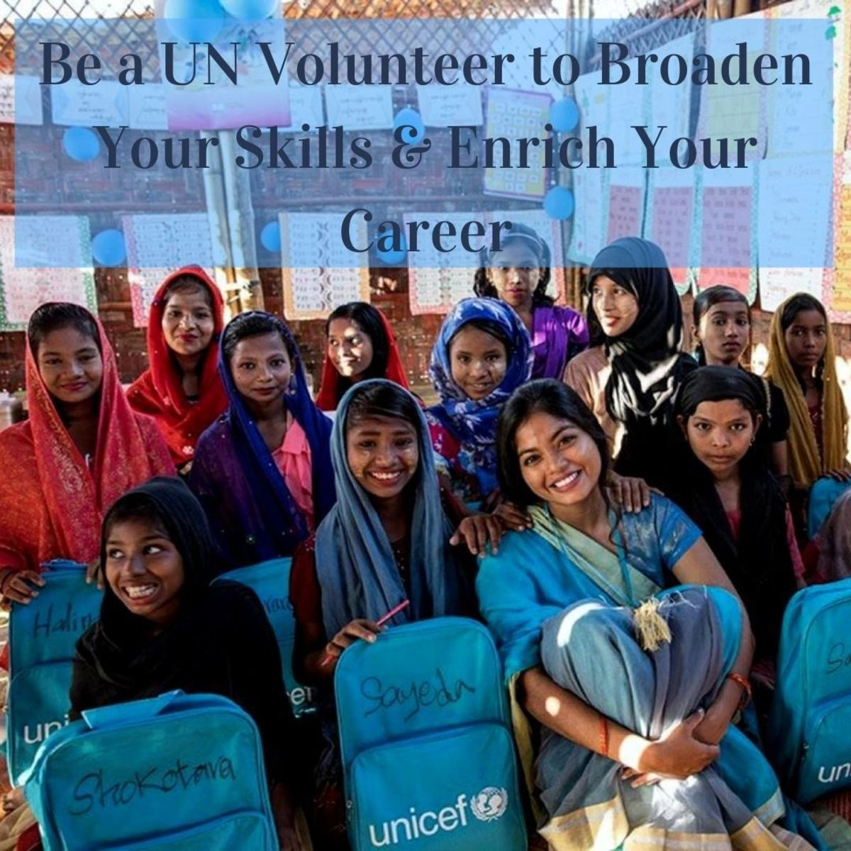 As a United Nations Volunteer (UNV) you can also work with refugee children.