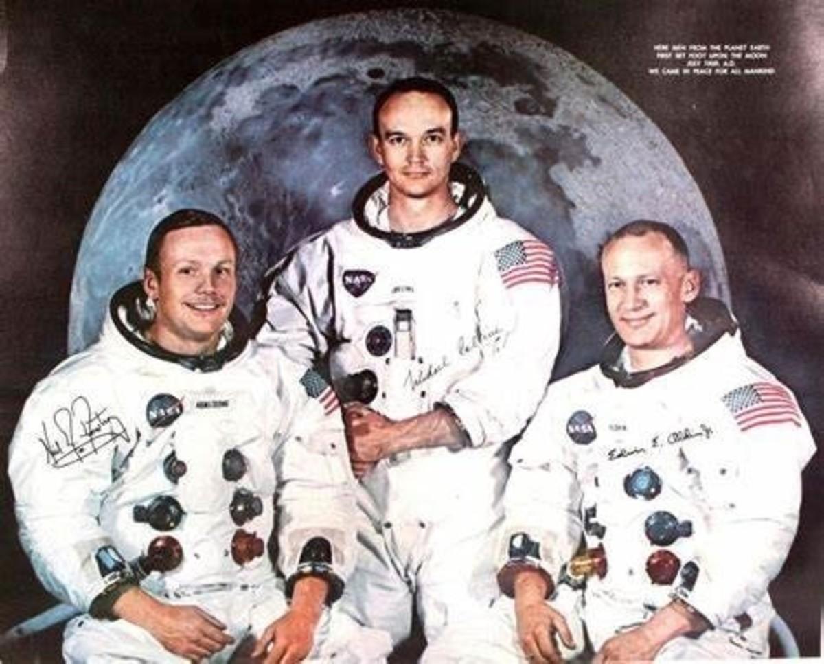 NASA Apollo 11 Crew Photo: Neil A. Armstrong, Commander Edwin E. Aldrin, Jr., Lunar Module Pilot Michael Collins, Command Module Pilot