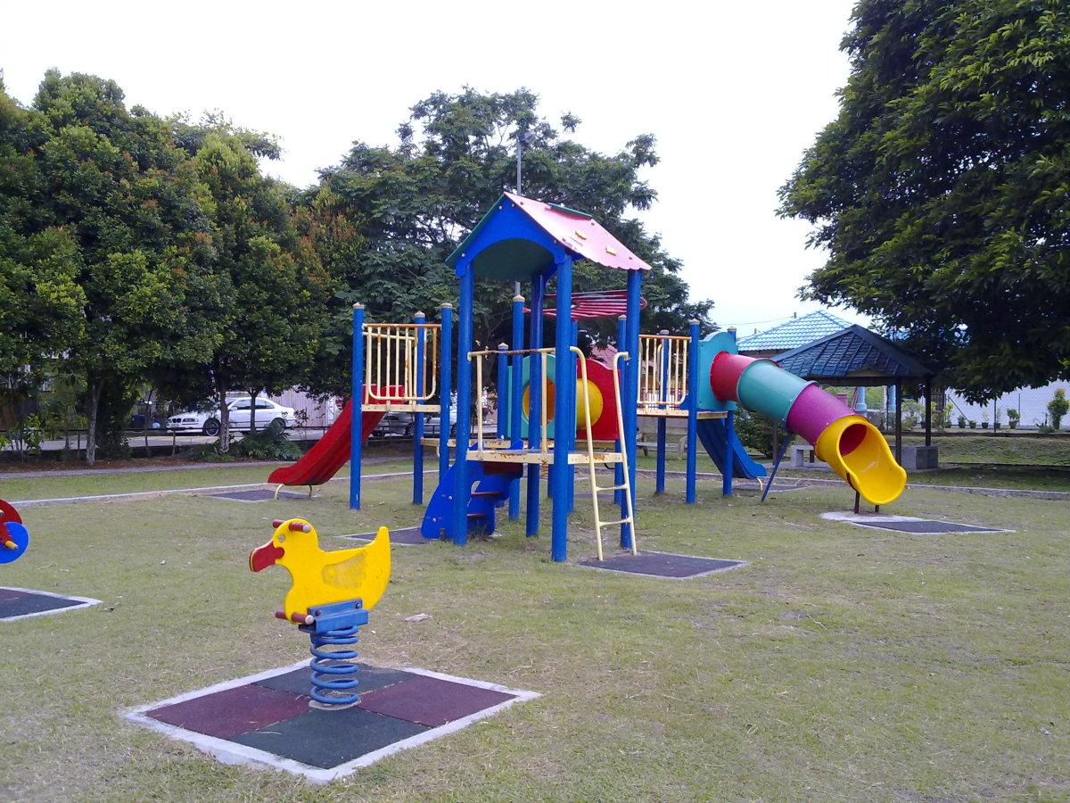the playground where kids love to be and learn new words