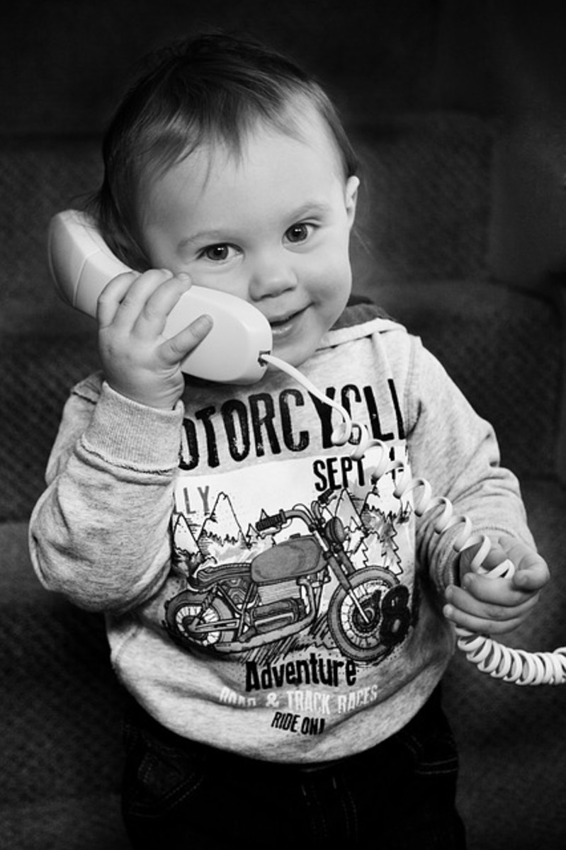 Little darling talking on the phone