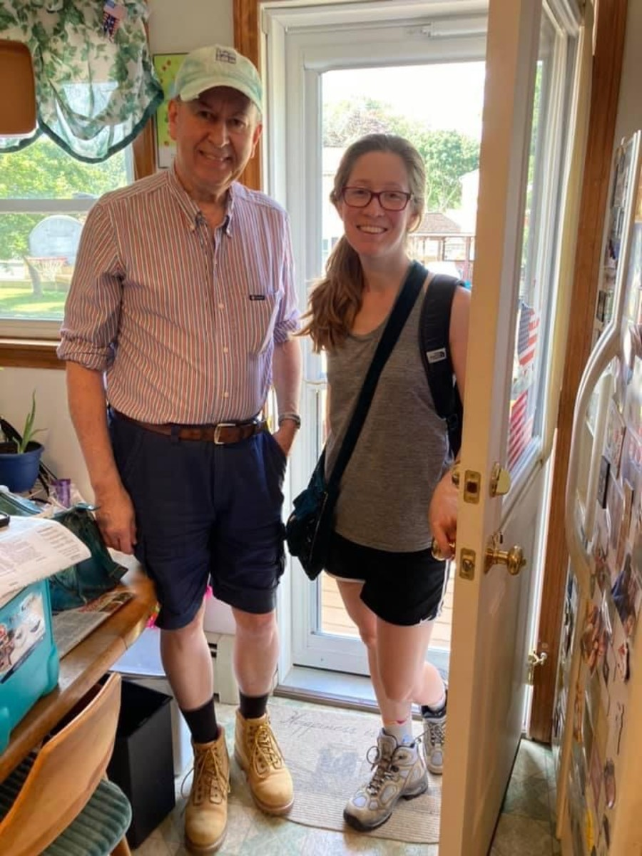 My dad and I, right before heading out to climb Mt. Major.