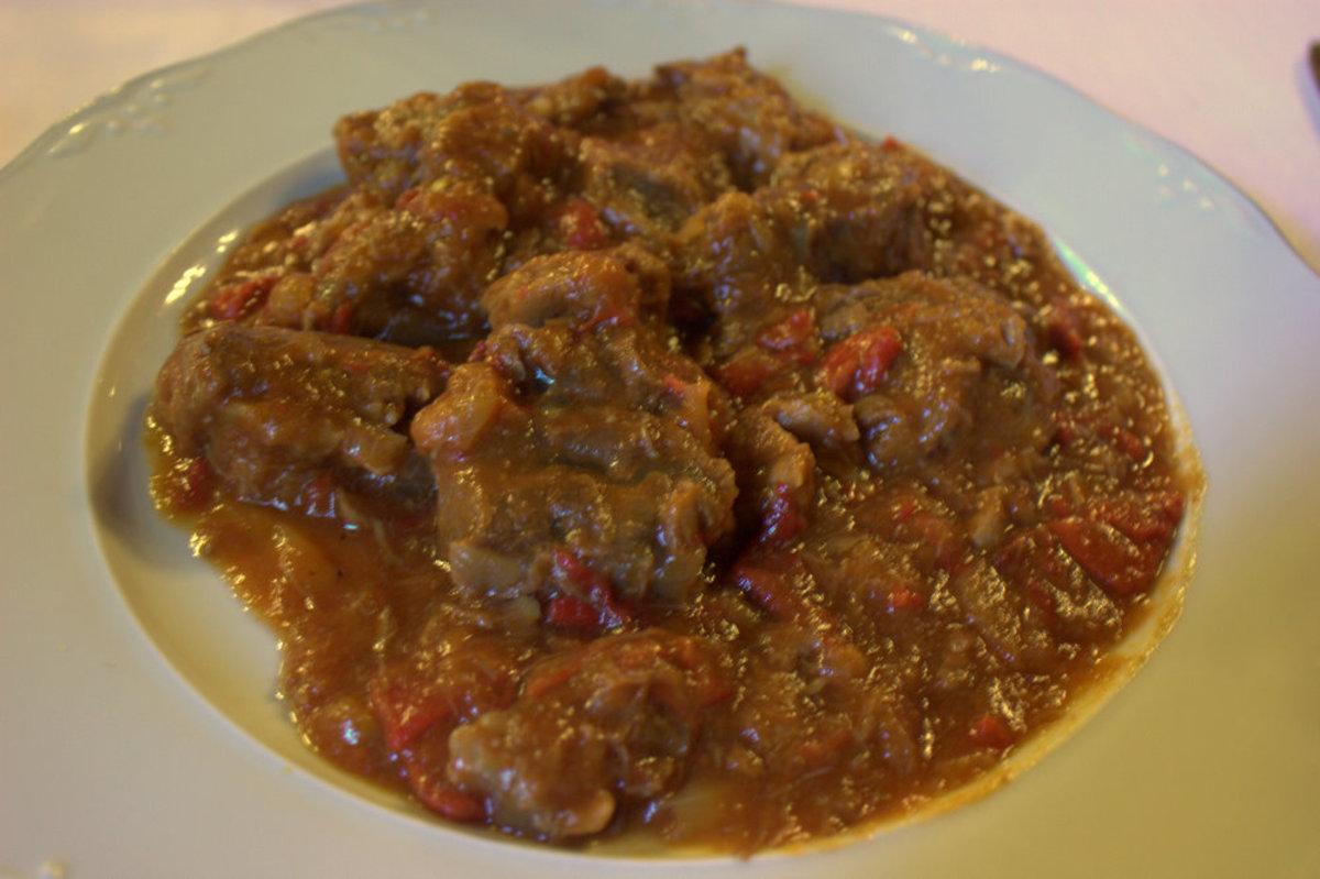 Hungarian Food - Veal Paprikash (Borjupaprikás)