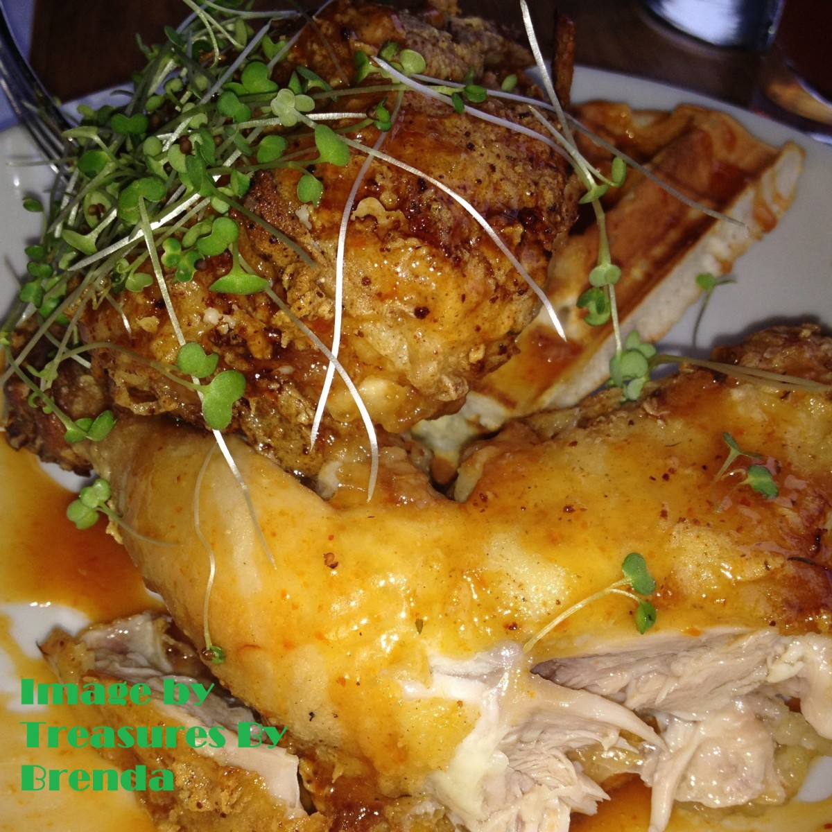 Chicken and Waffles from Hooch Bourton House