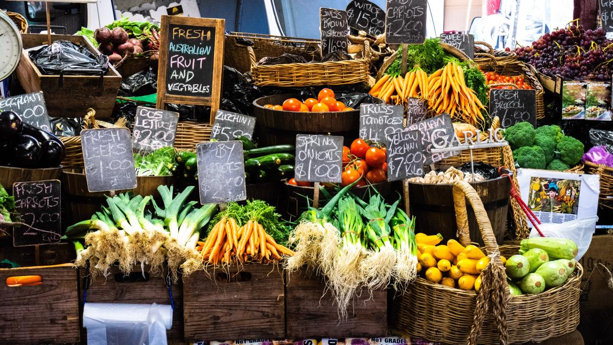 Create an attractive and interesting display for your farmers market booth.