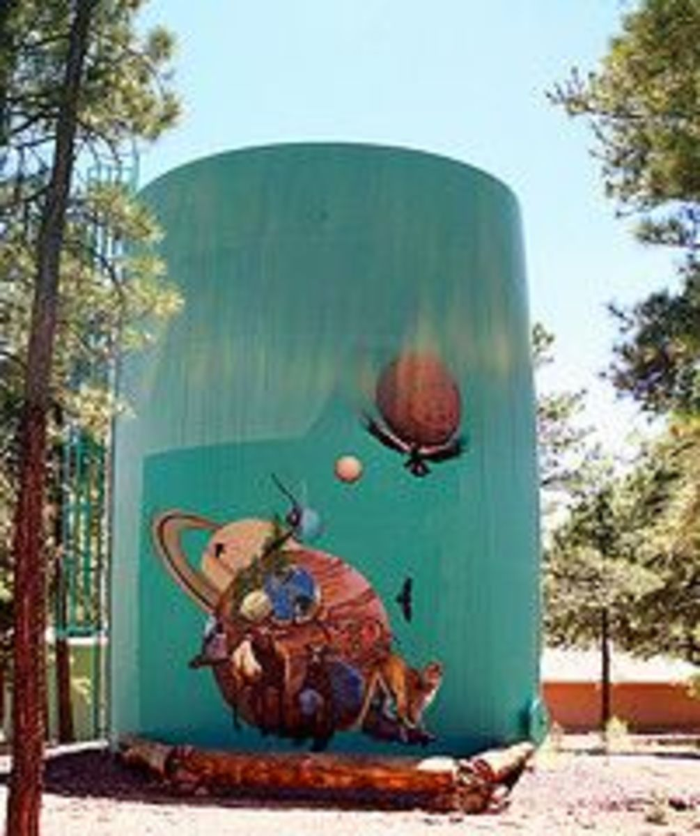 A Mural At Lowell Observatory