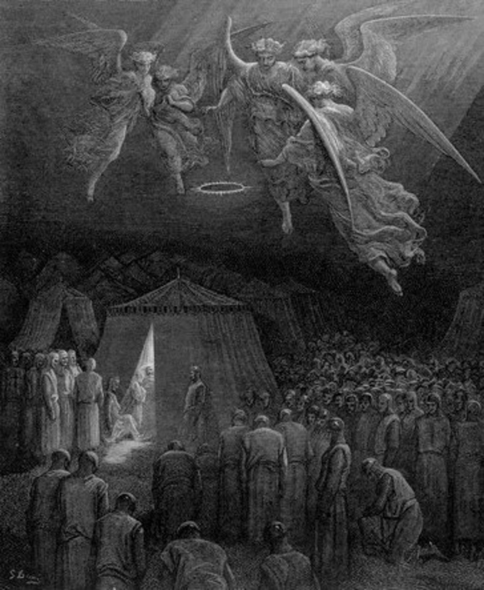 DEATH OF ST. LOUIS ENGRAVING BY GUSTAVE DORE