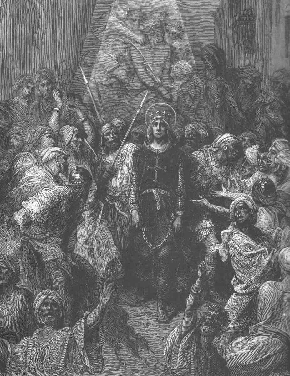 KING LOUIS IX TAKEN PRISONER IN THE SEVENTH CRUSADE