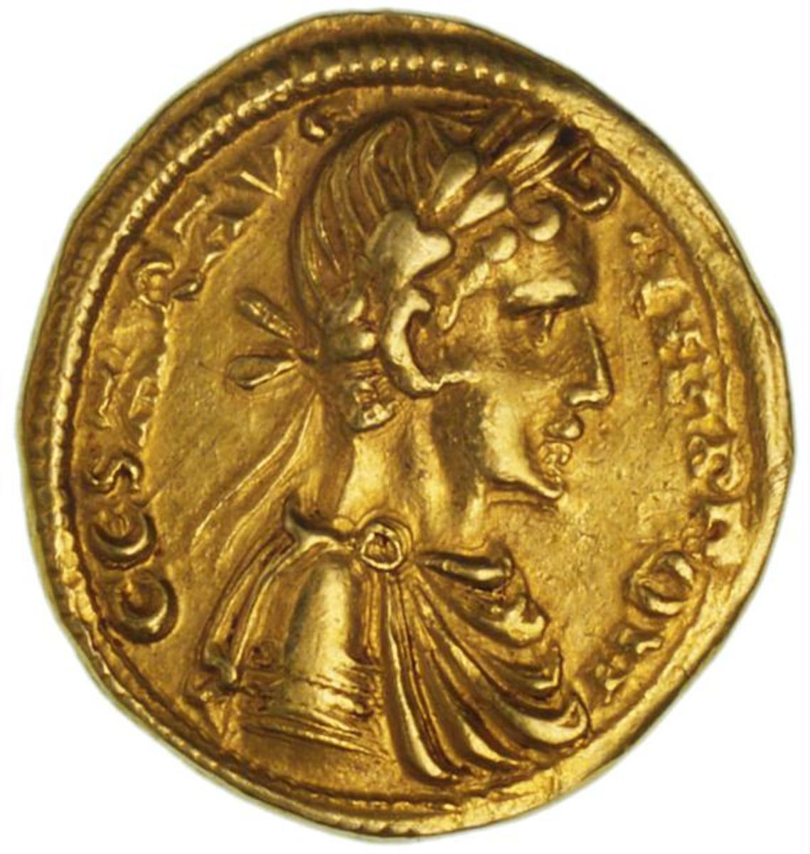 GOLD COIN BEARING IMAGE OF FREDERICK II