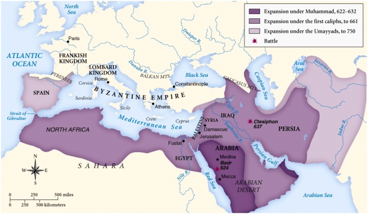 CHRISTIAN LANDS TAKEN BY ARAB INVADERS