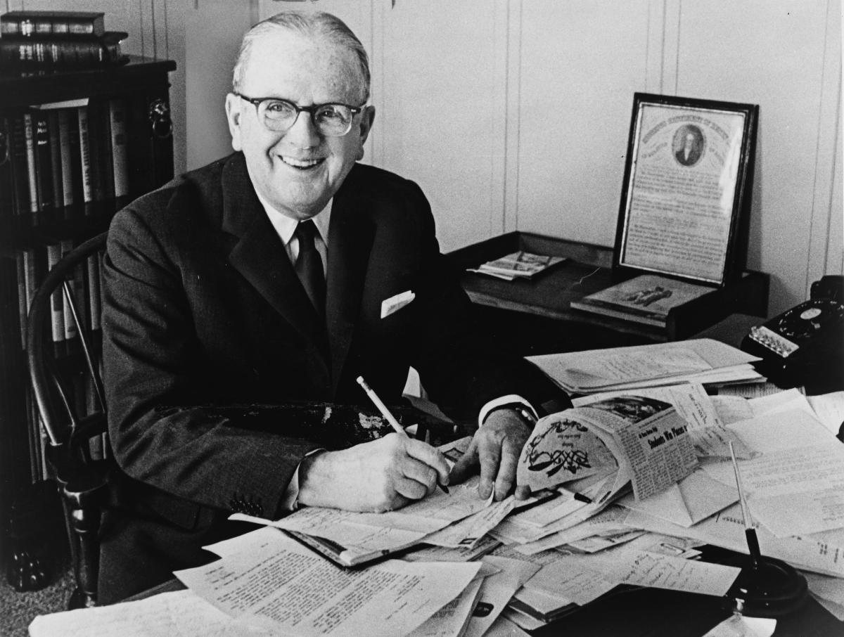 "NORMAN VINCENT PEALE, AUTHOR OF ""THE POWER OF POSITIVE THINKING"""